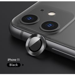 USAMS US-BH571 Metal Camera Lens Glass Film for iPhone 11 Pro/Pro Max - Black
