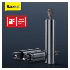 Baseus Car Safety Hammer Car Window Glass Breaker Auto Seat Belt Cutter Knife Mini Life-Saving Escape Hammer Car Emergency Tool (Dark Grey)