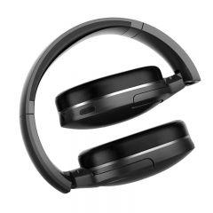 Baseus D02 Bluetooth Headphone, Adjustable & Foldable 25 Hours Music Play Wireless Earphone Black