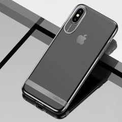 Usams Jam Series Ultra-Slim Soft TPU Back Case Cove Transparent Clear & Black For iPhone X