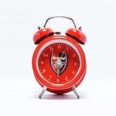 Twin Bell Table Watch Alarm Clock Arsenal FC