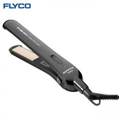 FLYCO HAIR STRAIGHTENER FH6812 (25W) GOLDEN ALUMINIUM FLOATING