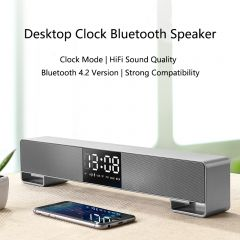 Joyroom M05 HIFI Bluetooth Speaker Portable FM Radio LED display Subwoofer wireless alarm clock Mini speaker support mobile phone call