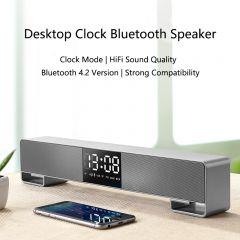 Joyroom M05 HIFI Bluetooth Speaker Portable FM Radio LED display Subwoofer wireless alarm clock Mini speaker support mobile phone call