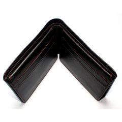 Mens Genuine Leather Wallet  Dark Brown