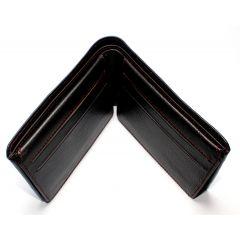 Mens Genuine Leather Wallet  Dark Brown