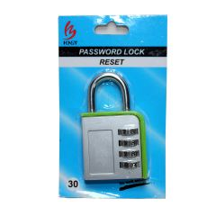Padlock - 4 Digit Combination Lock Set Your Own Combination Lock big size