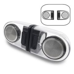 REMAX RB-M22 Magnetic Base Pair Speakers Portable Transparent AUX Stereo Dual Bluetooth Speaker