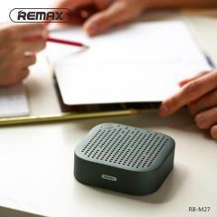 REMAX Portable Mini Bluetooth 4.2 Speaker 1200mAh Metal Stereo Music Bass HD Sound 5W Wireless AUX Outdoor Speaker Mini Player