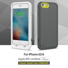 Rock Power Stand Battery Case Cover 3500mAh For Iphone 6 6s