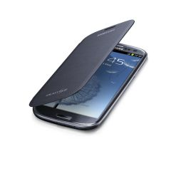 Genuine Samsung Galaxy S3 Flip Case Cover - Sapphire Black