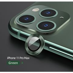 USAMS  Metal Camera Lens Glass Film for iPhone 11 Pro/Pro Max - Green