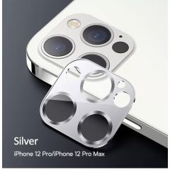 USAMS Metal Camera Lens Glass Film For iPhone 12 Pro Max (Silver)