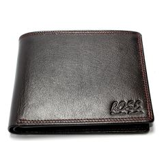 Genuine Leather Wallet For Men Dark Brown