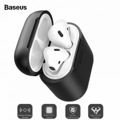 Baseus Qi Wireless Charging Case For Airpods Anti-Knock + Cover Wired Charging
