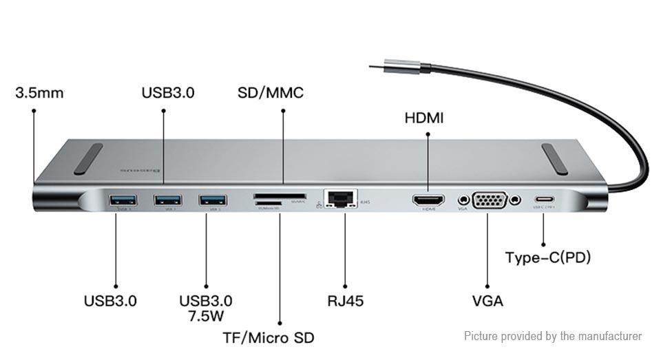 Baseus Type-C USB Cable Hub Adapter