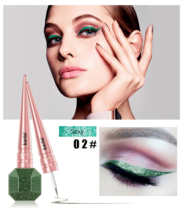 2018 New Makeup Glitter Eyes Liner sexy beauty Easy to Wear Waterproof Pigmented Red White Gold Liquid Eyeliner