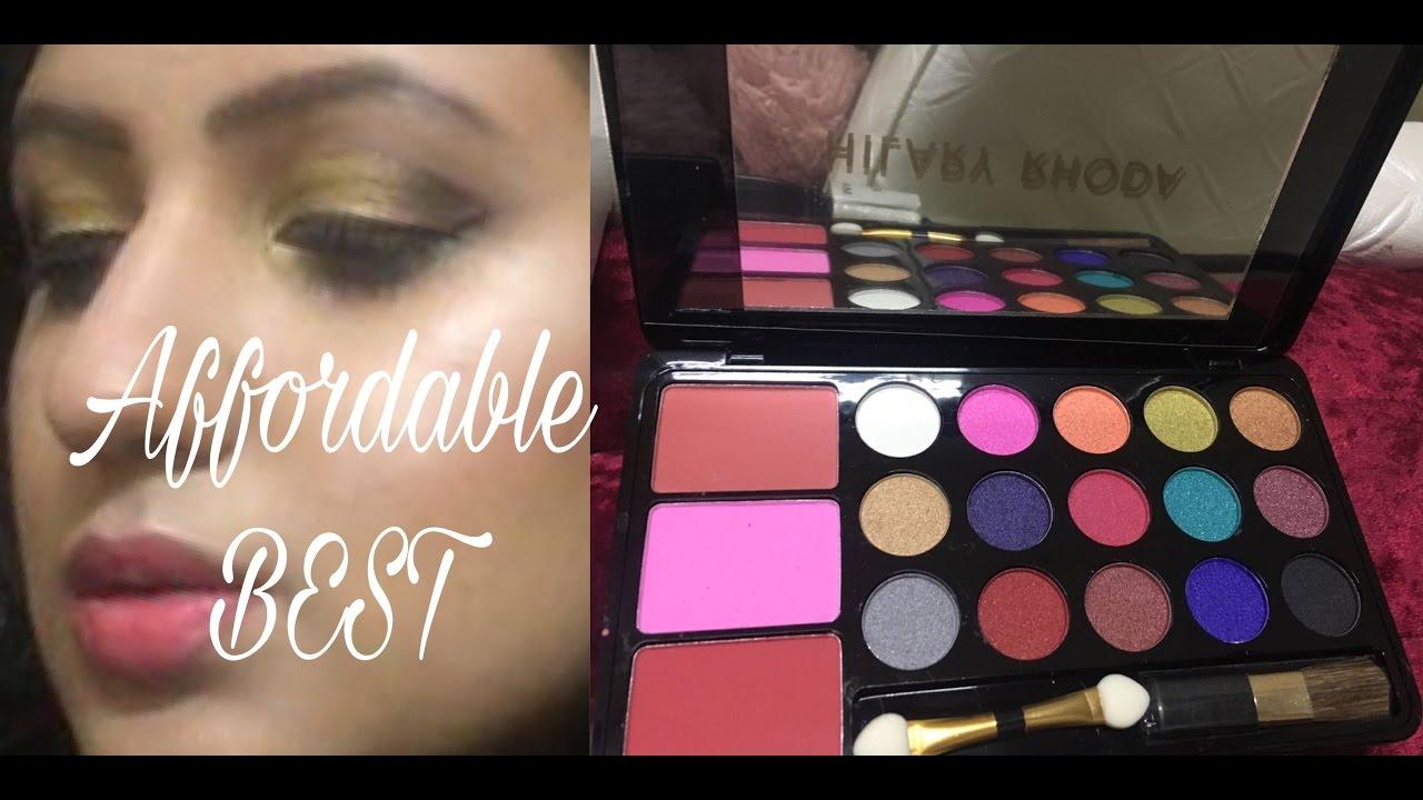 Hilary Rhoda Professional 15 Eye Shadows and 3 Blush Stylish Look with Application Brushes