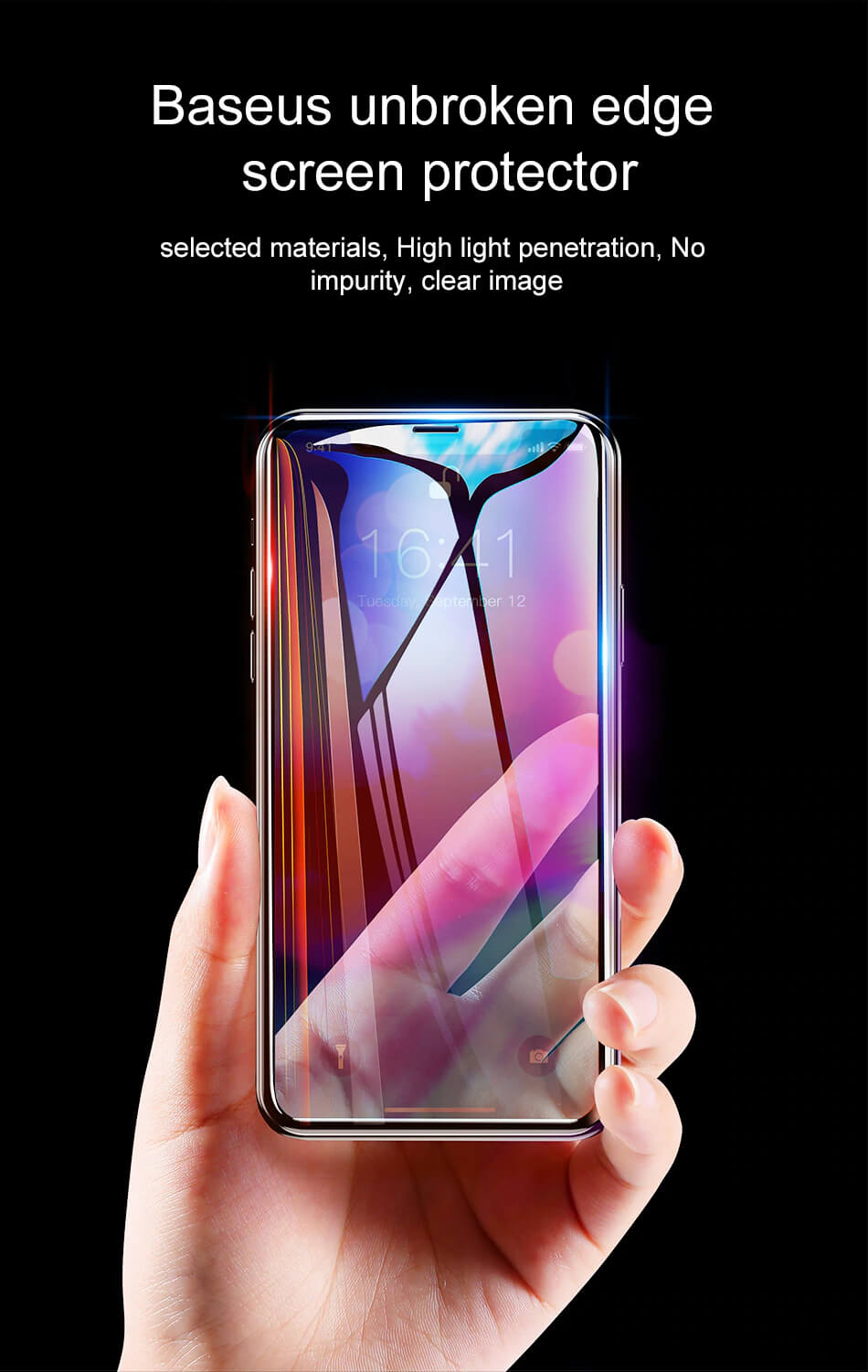 Baseus Full Coverage Curved Tempered Glass for iPhone XR  5.8